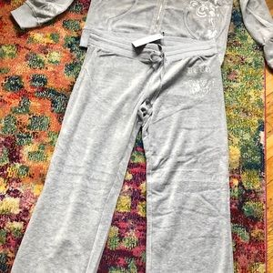 BCBG Other - Brand new BCBG, large, gray velour sweat suit